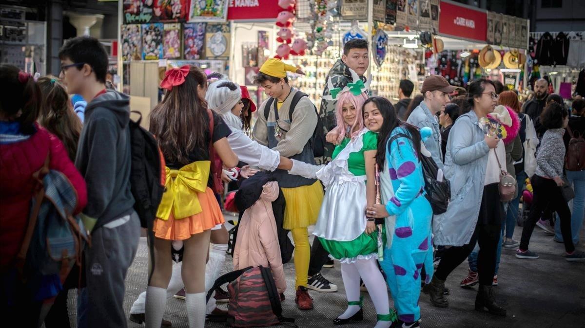 Ambiente en la edición del 2018 del Salón del Manga.