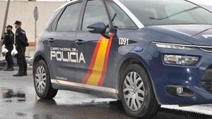 Un vehículo de la Policía Nacional.