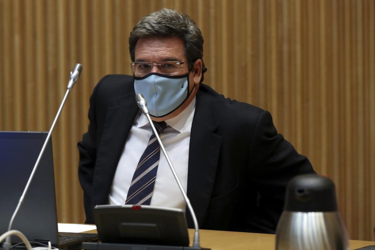 El Ministro de Inclusión, Seguridad Social y Migraciones, José Luis Escrivá, en el Congreso de los Diputados, el 9 de septiembre.