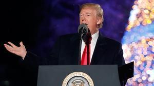 Trump en la ceremonia de encendido de las luces de Navidad, el 30 de noviembre.