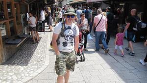 Sead Svrana, en el casco antiguo de Sarajevo.