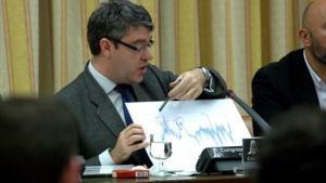 El ministo de Energía, Álvaro Nadal, durante una comparecencia en el Congreso.