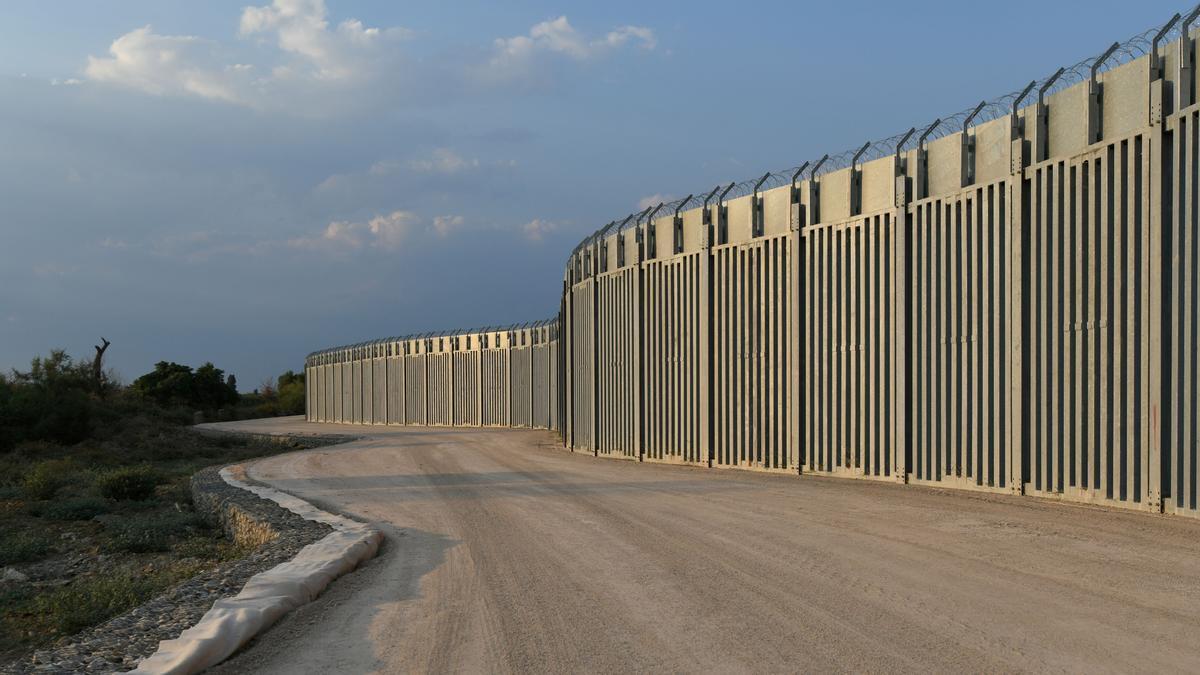 La frontera entre Grecia y Turquía en Alexandoupolis.