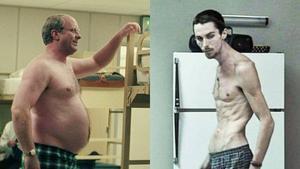 Christian Bale, en 'El vicio del poder' y en 'El maquinista'.