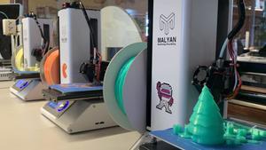 Impresoras 3D del Citilab de Cornellà.