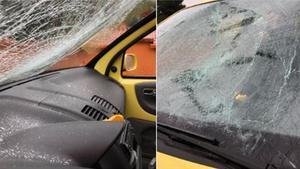 El coche de Jenn Díaz (ERC), destrozado