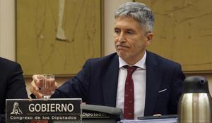Fernando Grande-Marlaska, durante su comparecencia ante la Comisión de Interior del Congreso.