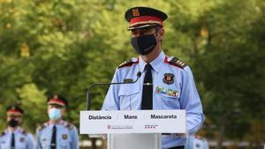 Trapero se reúne con los mandos de los Mossos tras su restitución.