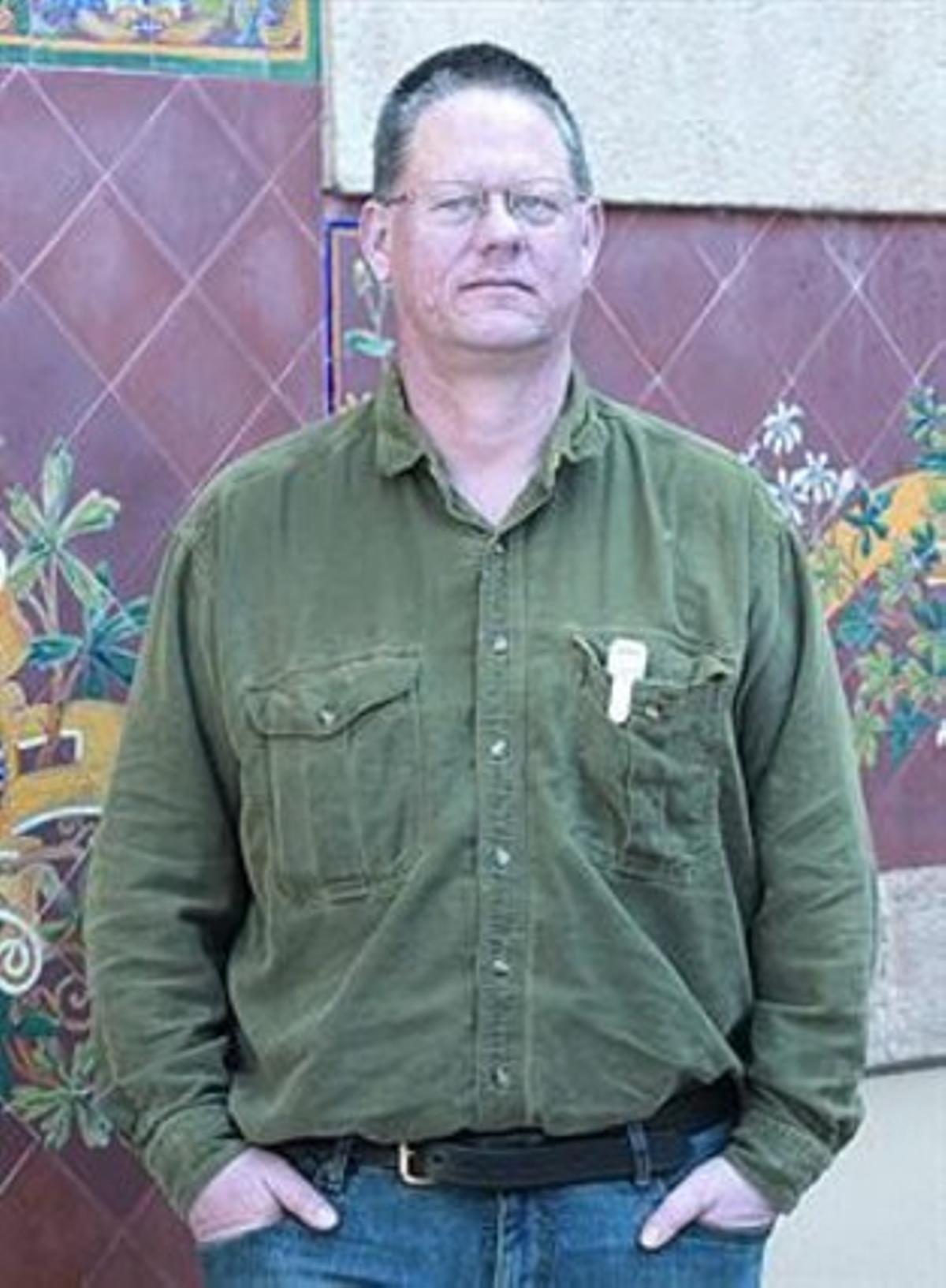 El escritor norteamericano William T. Wollmann, en el CCCB.