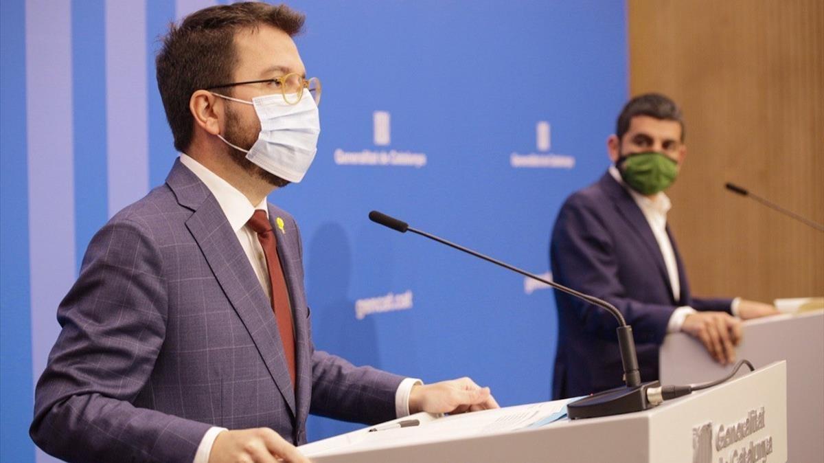 Fotografia aragones y homrani 07 12 2020 foto de la generalitat  Departament de la Vicepresidencia i d Economia i Hisenda