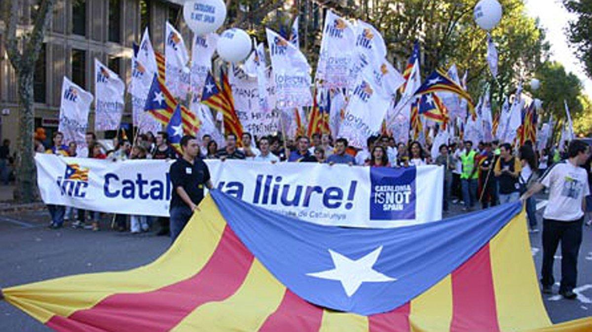 Manifestación de la Joventut Nacionalista de Catalunya el 11 de septiembre del 2005.