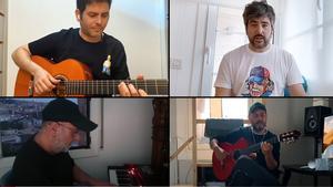 Videocllip 'Camiseta de rokanrol', de Estopa, grabado en confinamiento