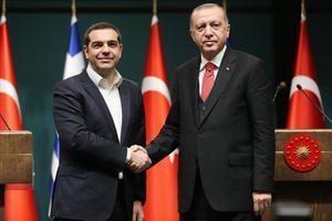 Tsipras y Erdogan, en Ankara.