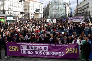 Imagen de archivo de una manifestación en contra de la violencia de género