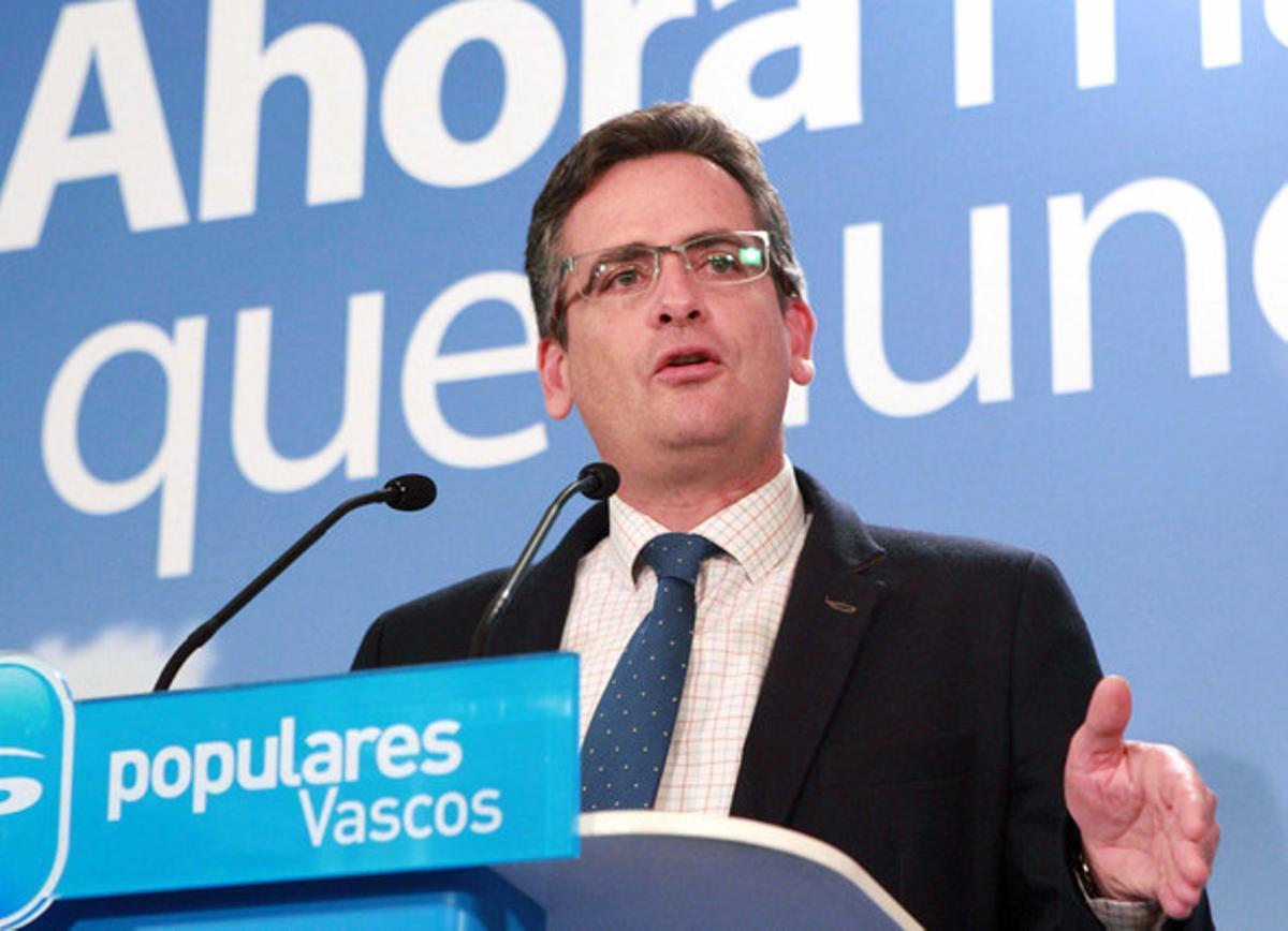 El presidente del PP vasco, Antonio Basagoiti, en una imagen de archivo.