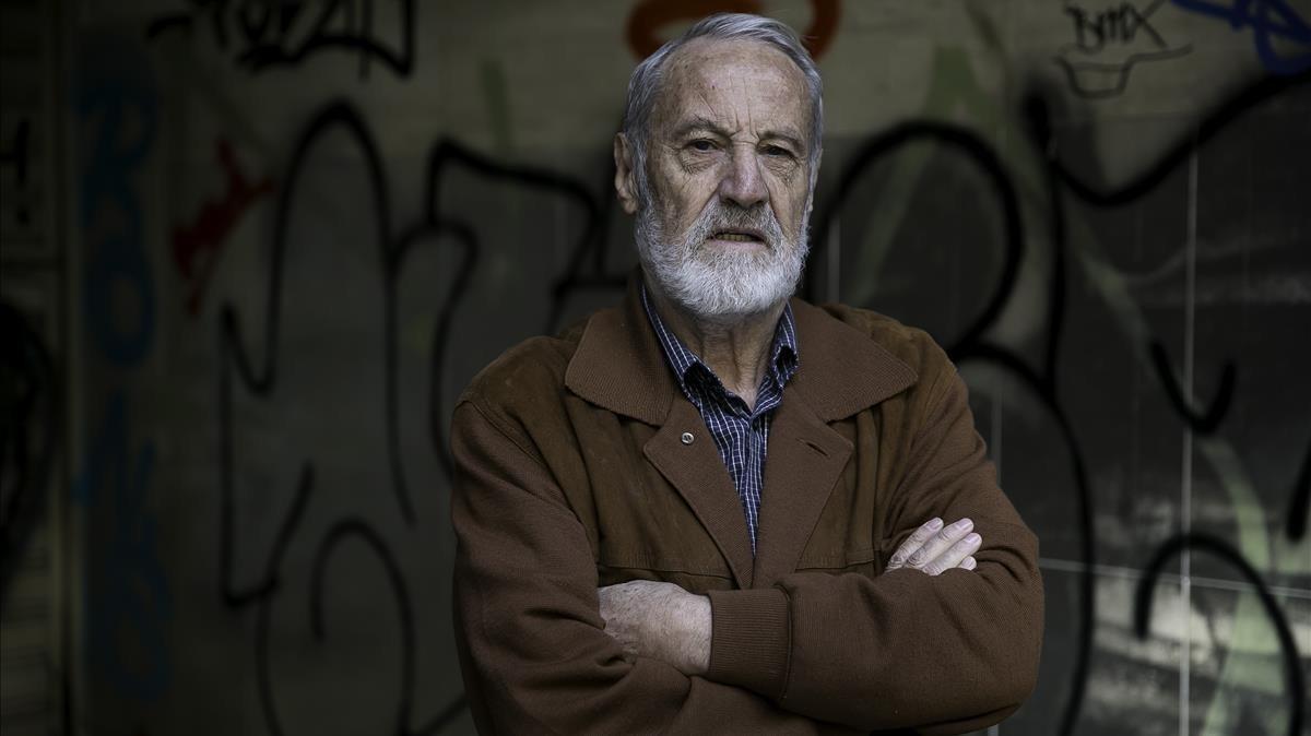 Toni Civis, padre de un niño de 8 años, retirado por la Generalitat y dado en régimen de acogida, el viernes en Barcelona.