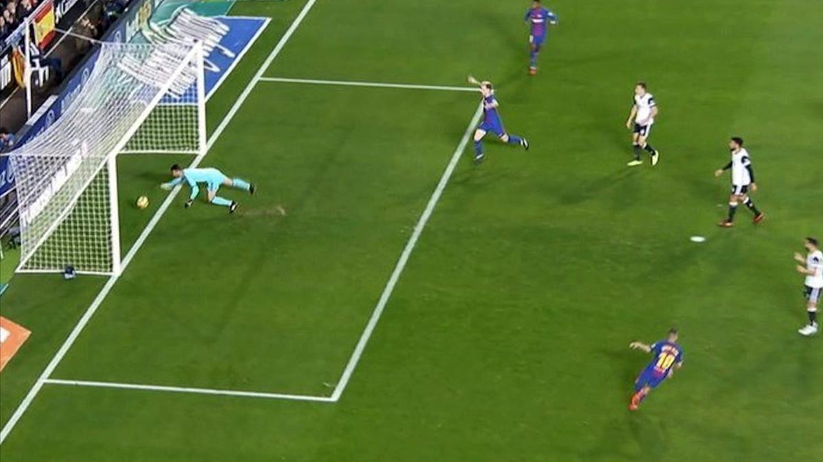 La casa d'apostes Betfair dona per vàlid el gol de Messi i paga el triomf del Barça