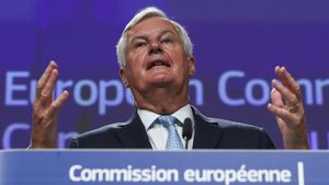 El negociador jefe de la UE para el 'brexit', Michel Barnier, este viernes en Bruselas.