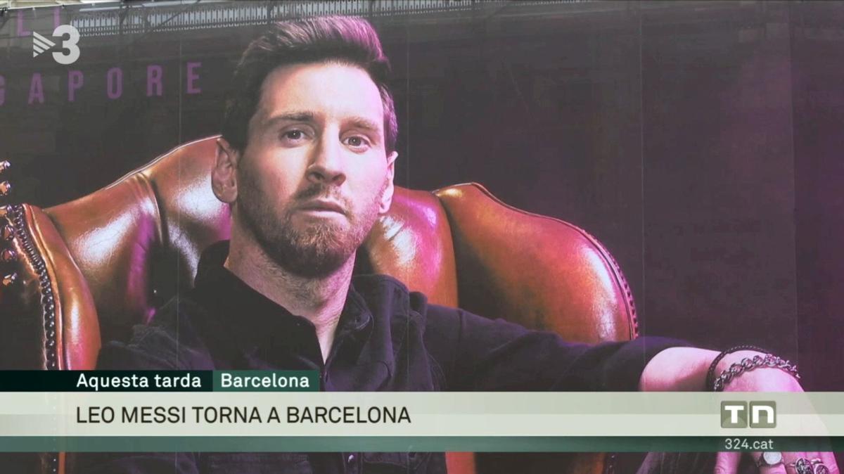 El gran cartel colgado en Barcelona (TV-3).
