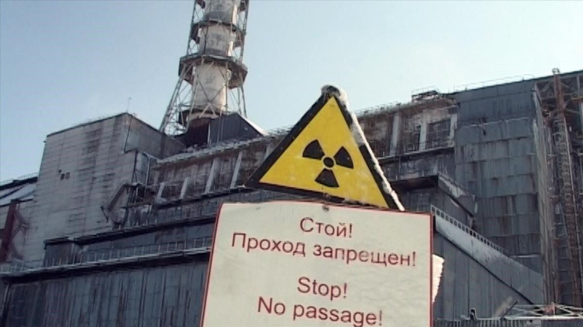 La central nuclear de Chernóbil.