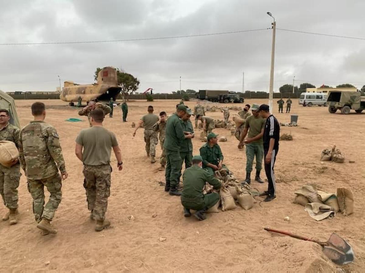 Maniobras militares conjuntas de EEUU y Marruecos.