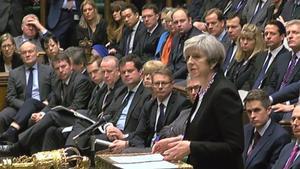 Theresa May en el Parlamento británicoel pasado mes de marzo.