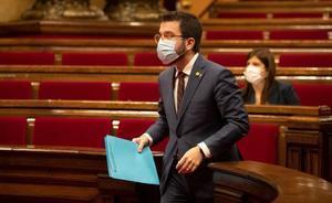 Aragonès asegura que no le temblará el pulso si hay que dar un paso atrás ante el aumento de casos de covid.