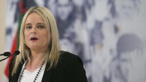 La presidenta de la Fundación Víctimas del Terrorismo, Mari Mar Blanco, en un acto del PP.
