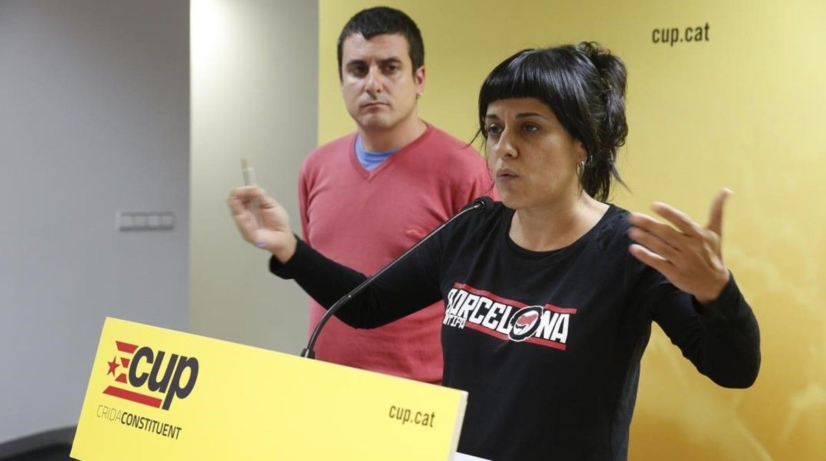 Anna Gabriel y Quim Arrufat.