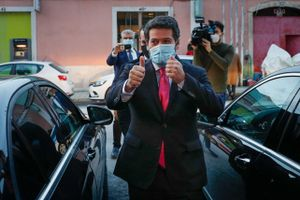 El candidato de ultraderecha portugués, André Ventura