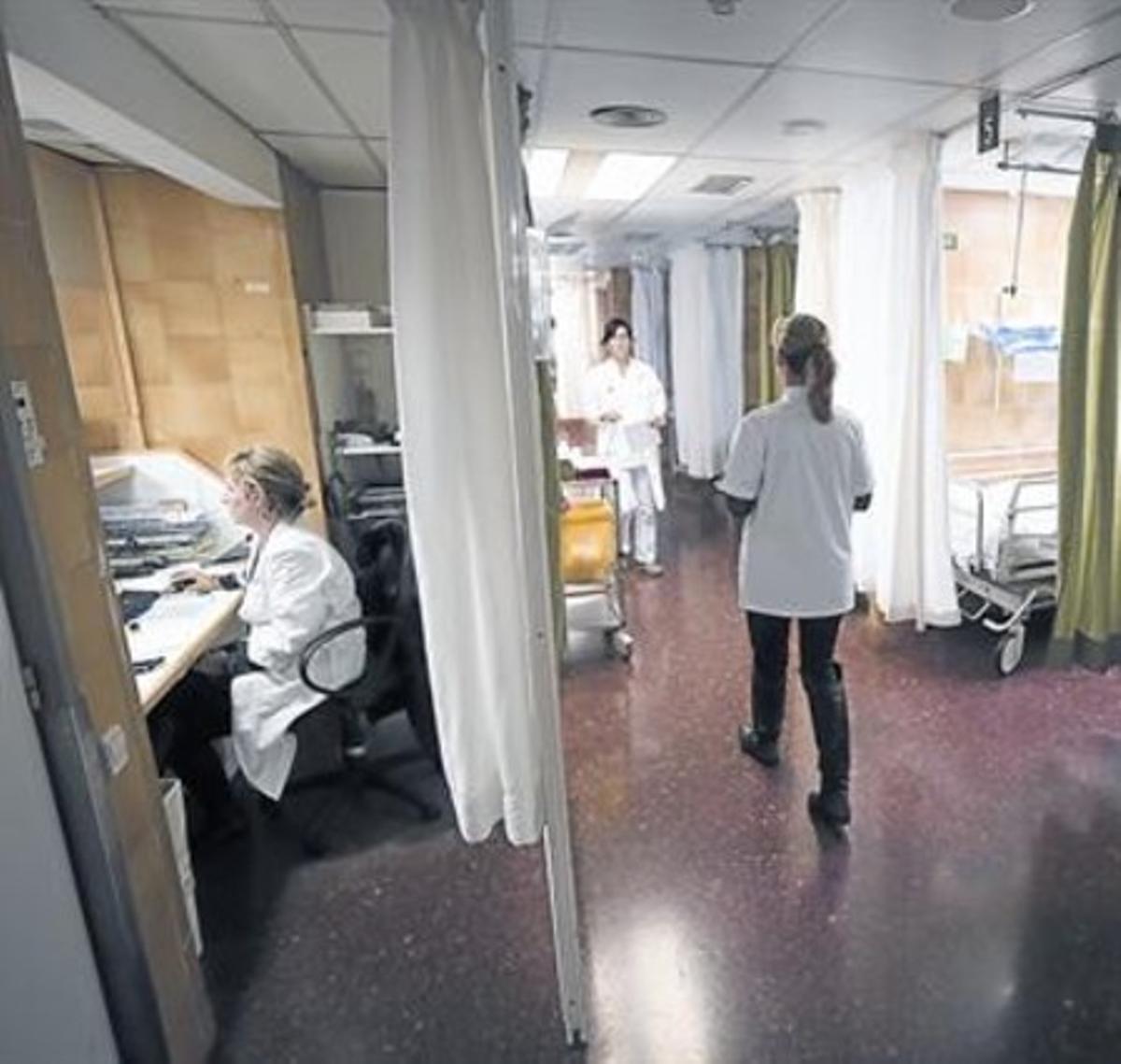 Servicio de urgencias del Hospital Clínic de Barcelona.
