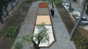 Jardín donde esparcir las cenizas en el cementerio de Montjuïc.