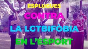 Fotograma del vídeo contra la LGTBIfobia en el deporte.