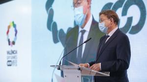 El 'president' de la Generalitat valenciana, Ximo Puig, en un acto en València este 21 de junio de 2021.