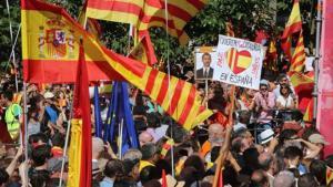 Manifestación en favor de la unidad de España en Barcelona, en septiembre del 2017.