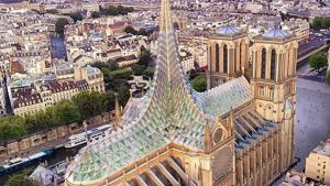 El estudio de Vincent Callebaut propone que la nueva Notre Dame sea una granja hidropónica.