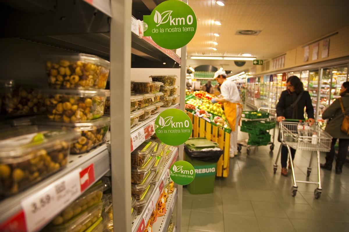 Un supermercado de la cadena Bon Preu.