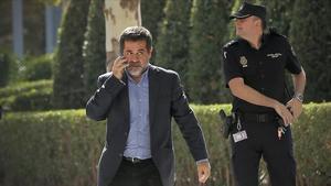 Jordi Sànchez, antes de declarar en el Supremo, el 16 de octubre.