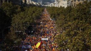 Manifestación constitucionalista en Passeig de Gràcia