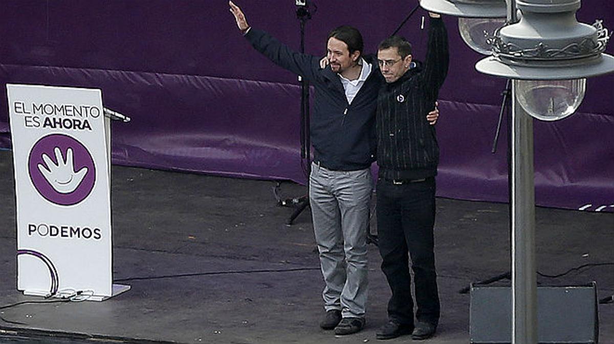 Pablo Iglesias augura la derrota del PP en el año del cambio