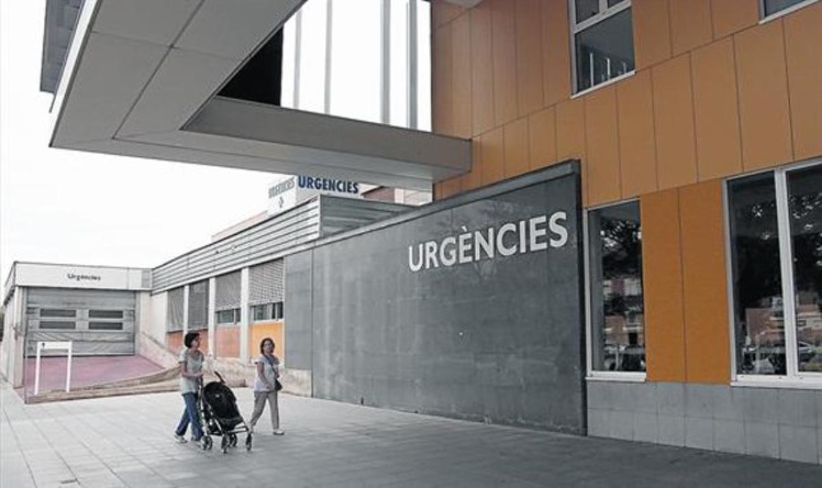 Acceso a urgencias del Hospital Parc Paulí, de Sabadell.
