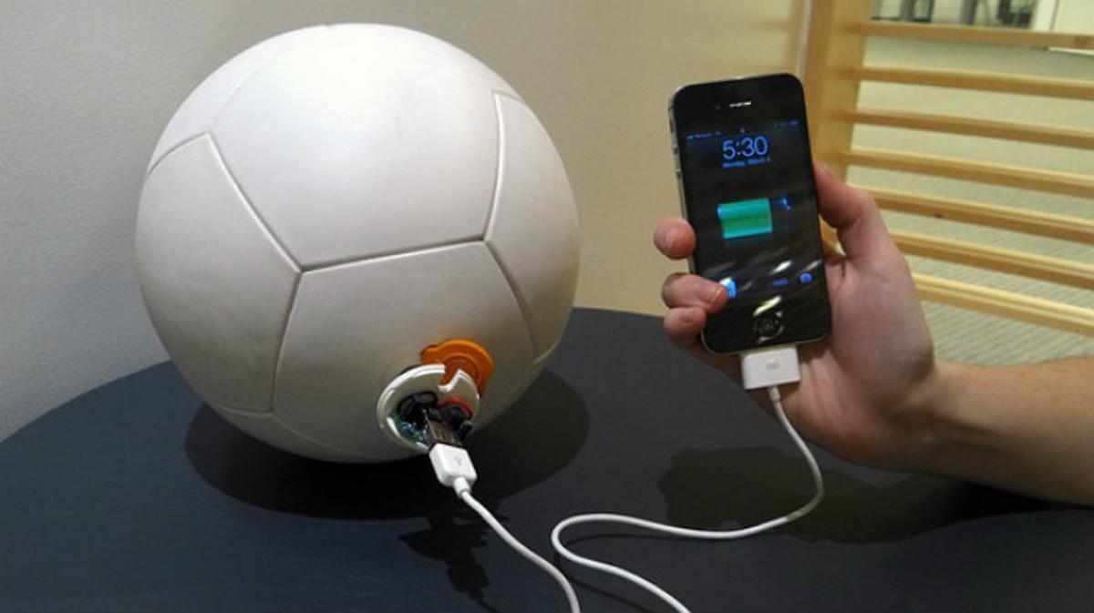 El Soccket ball proporciona energía limpia y gratuita.