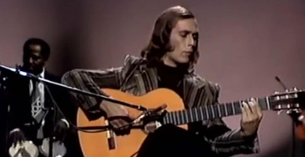 Paco de Lucía interpreta 'Entre dos aguas',en TVE en 1976.