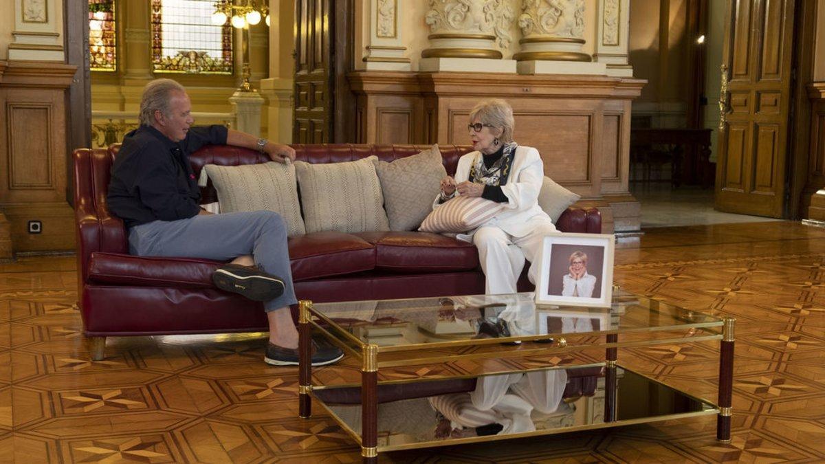 Bertín Osborne con Concha Velasco en 'Mi casa es la tuya'.
