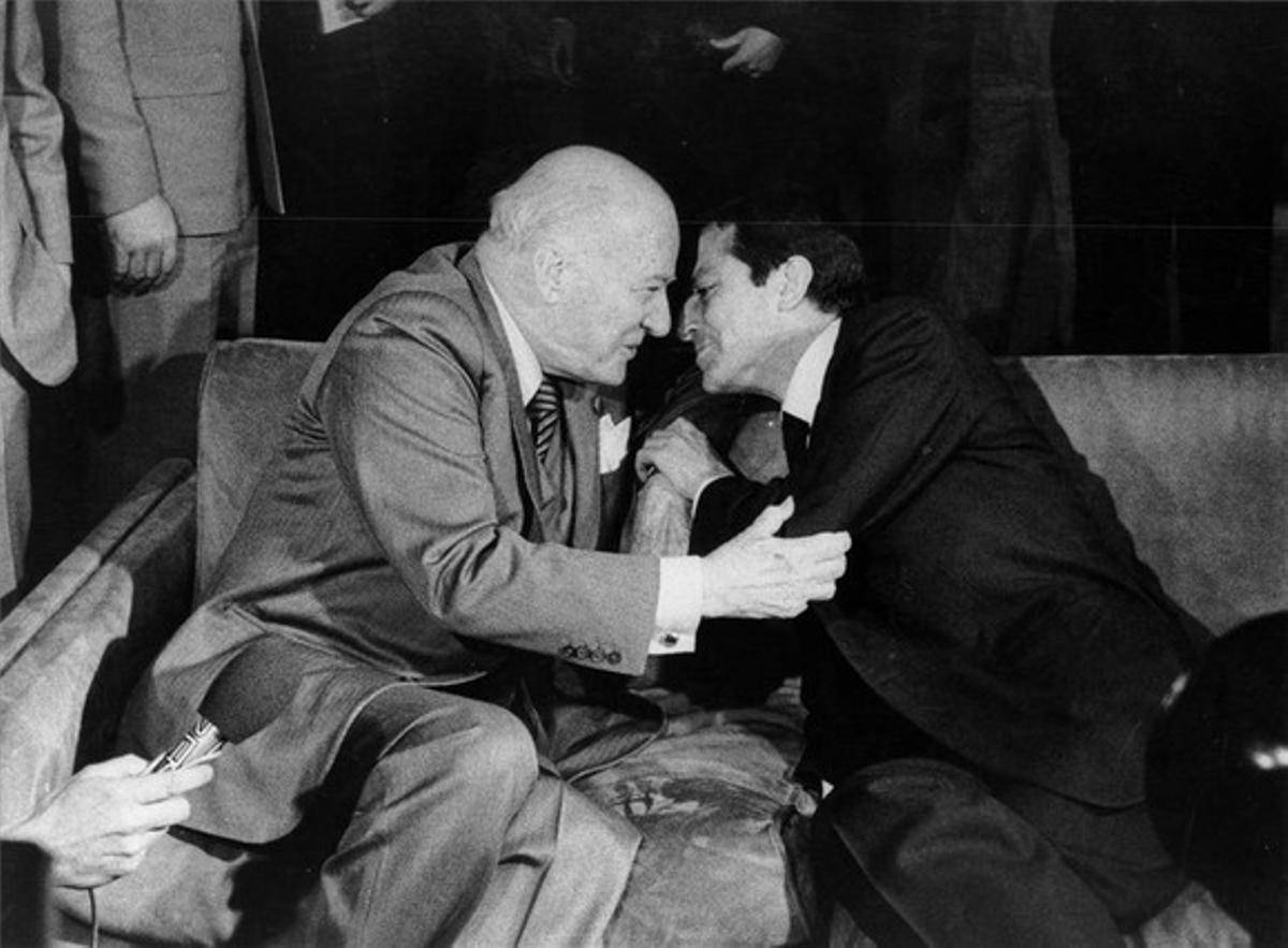 Tarradellas y Suárez, en una imagen de 1979.