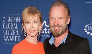Sting y su mujer, Trudie Styler.