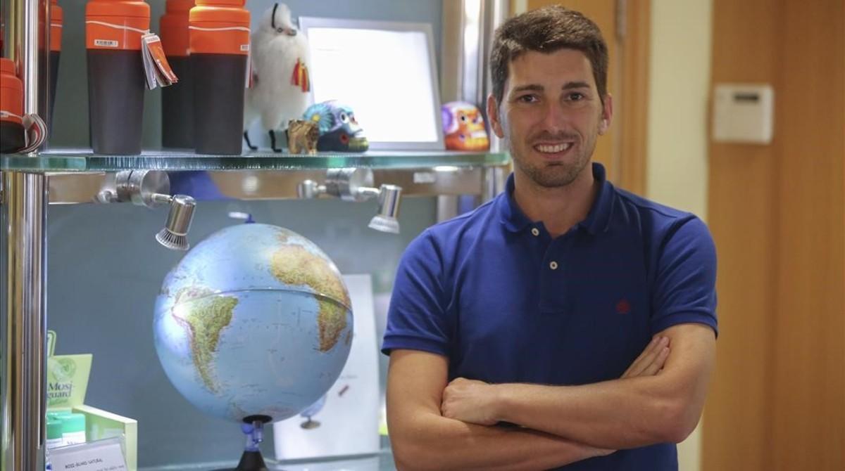 Oriol Mitjá, en el Hospital Clínic, vinculado con ISGlobal de Barcelona, institución a la que pertenece.