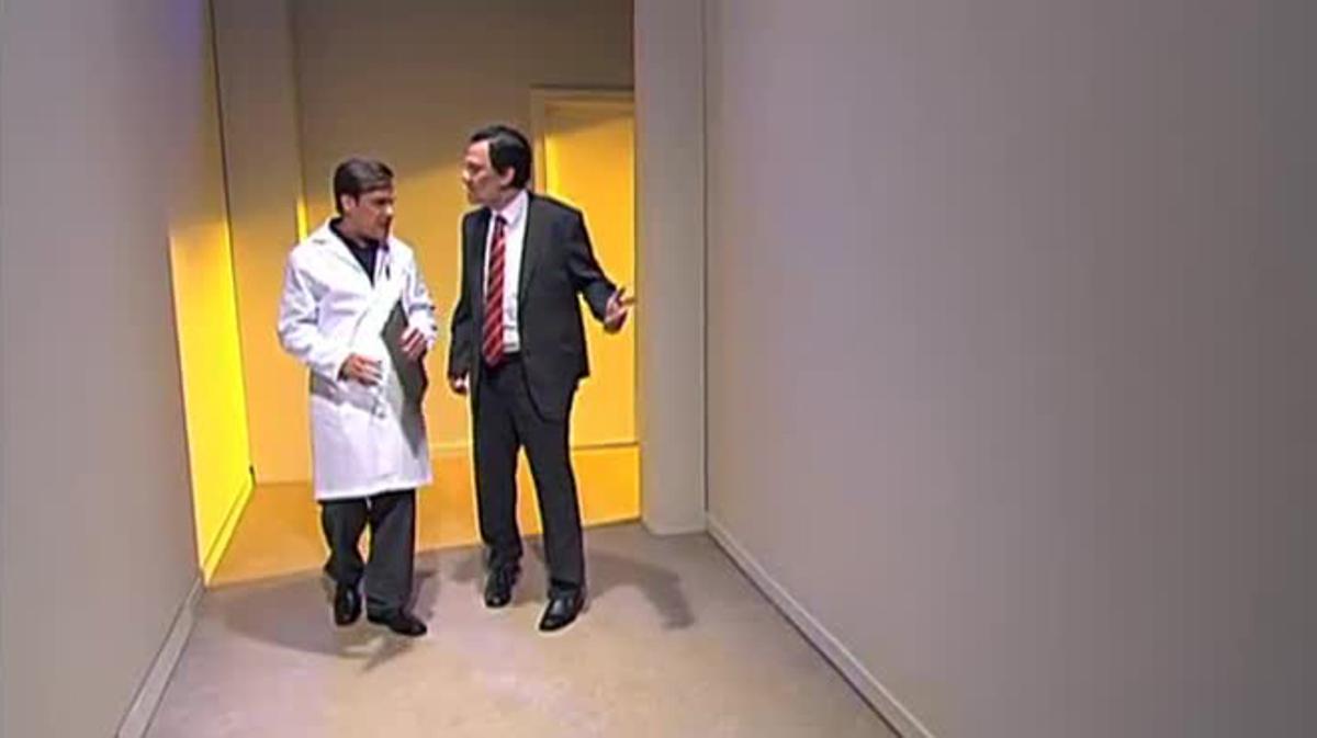 Queco Novell, comoMariano Rajoy, en uno de los gags más vistos de las últimas temporadas de 'Polònia'.