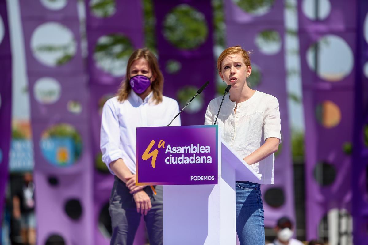 La nueva secretaria de Organización de Podemos, Lilith Verstrynge, durante la celebración de la IV Asamblea Ciudadana Estatal