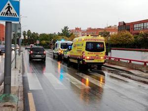Imagen del tramo urbano en Alcorcón en el que fue atropellada una mujer mientras portaba a su bebé en un carrito.